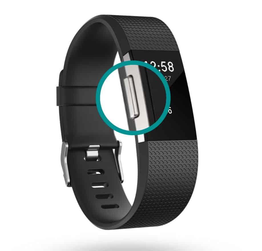 side button on Fitbit charge 2