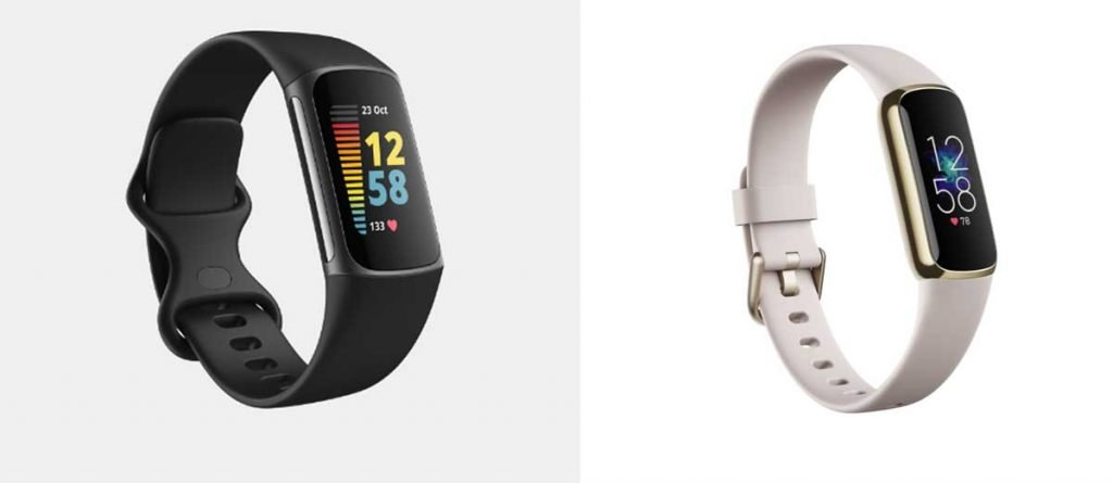 Fitbit Charge 5 compared to Fitbit Luxe color screen fitness tracker