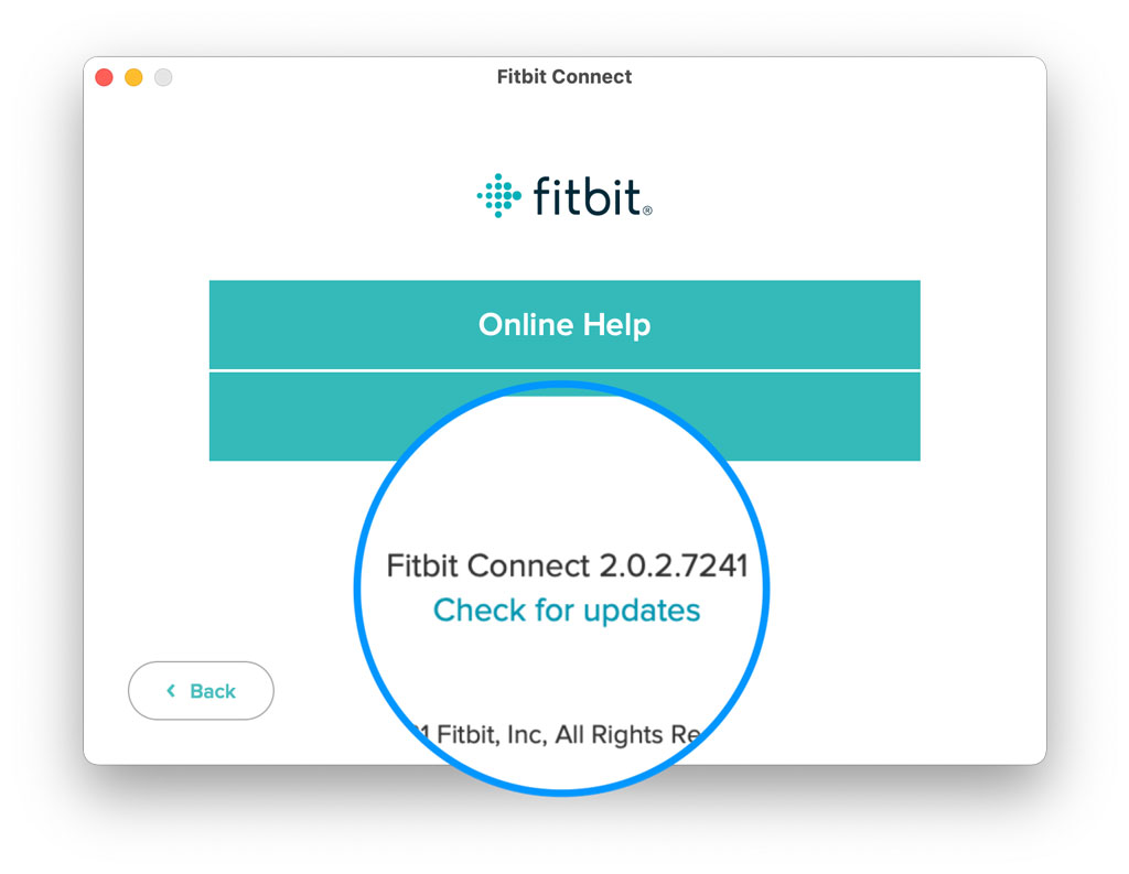 Check for app updates for Fitbit Connect app on Mac and Windows computers