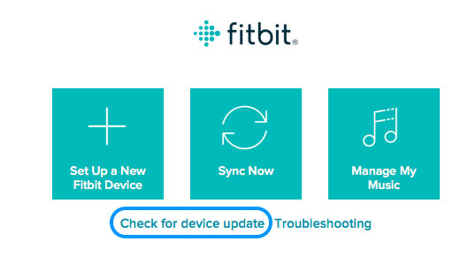 Fitbit Connect check for device update
