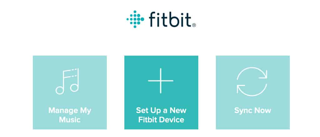 set up a new Fitbit device using Fitbit Connect