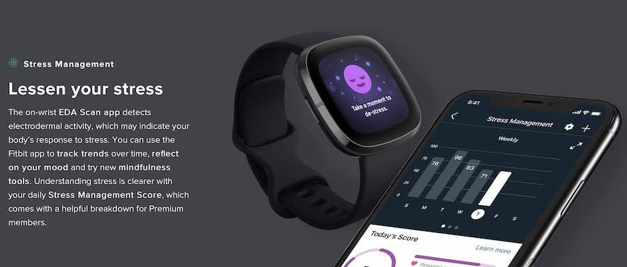 Fitbit EDA sensor for stress