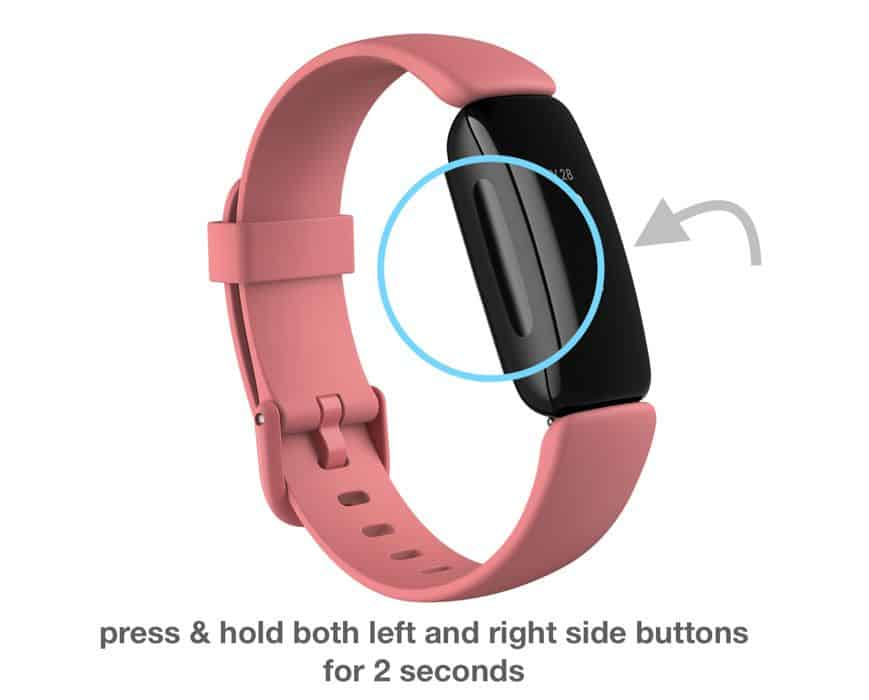 quick settings menu options on fitbit inspire 2