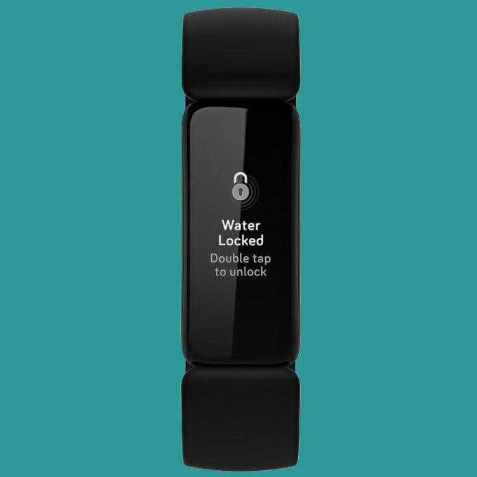 water lock on FitBit Inspire 2
