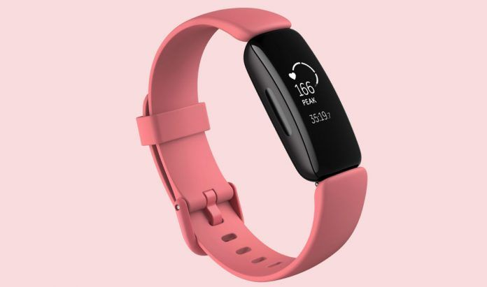 Heart rate shown on fitbit inspire 2