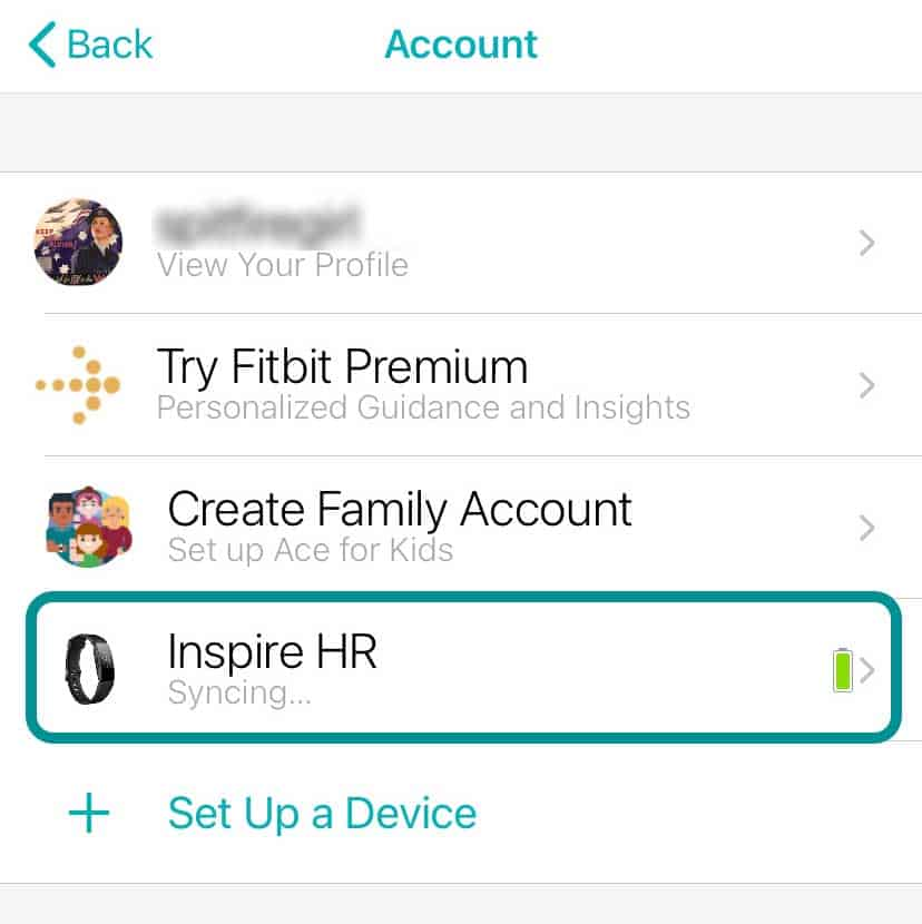 Fitbit app syncing Fitbit Inspire HR automatically