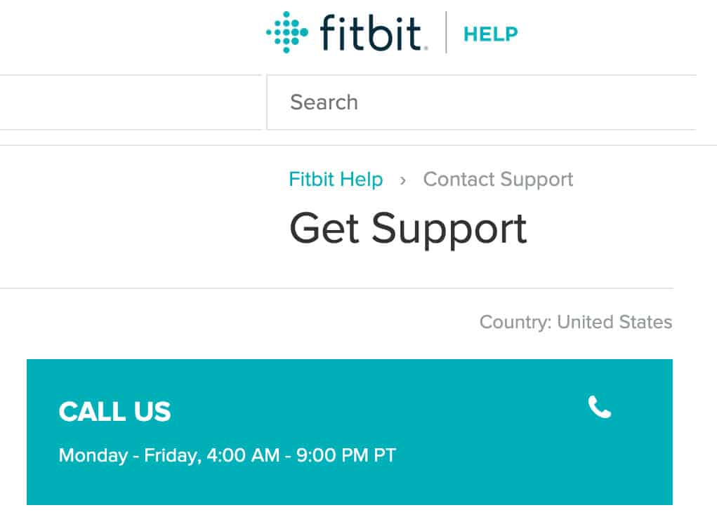 Fitbit customer support phone number
