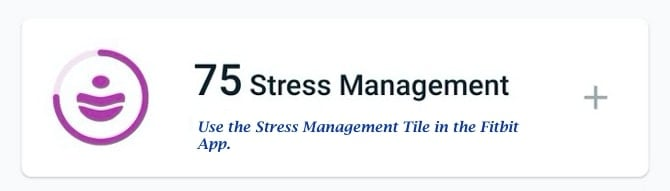 Fitbit Sense Stress management scores