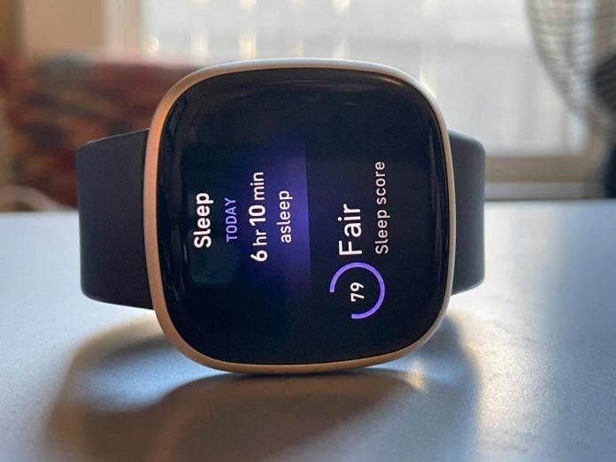 sleep score on Fitbit Versa 3