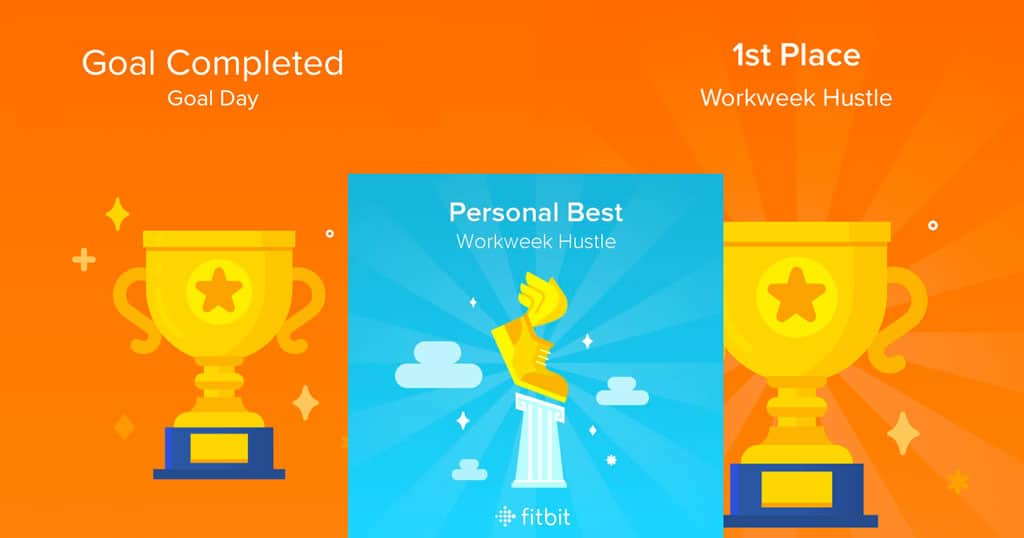 earn Fitbit trophies in challenges with friends, family, or yourself!
