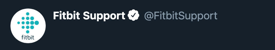 Twitter for Fitbit support
