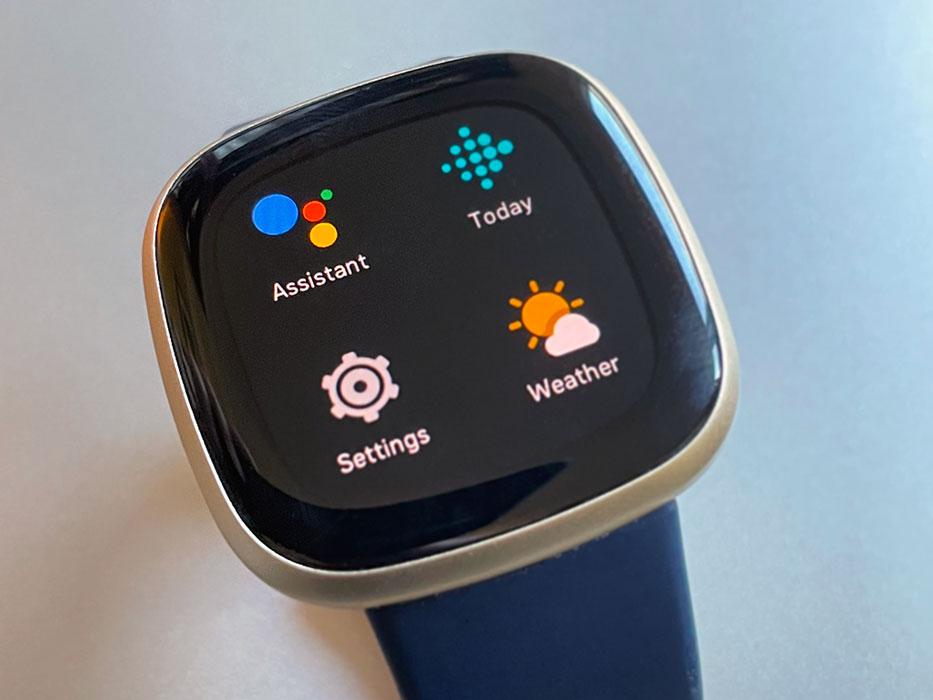 Fitbit Google Assistant app on Fitbit screen