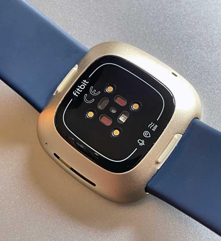 sensors on Fitbit smartwatch