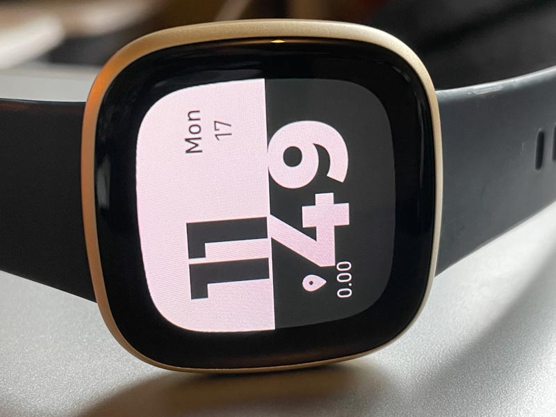 distance missing or showing zero on Fitbit clock face