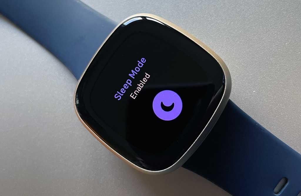 Display sleep mode in quick settings on Fitbit versa 3