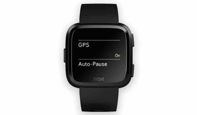 turn on GPS for Fitbit Versa