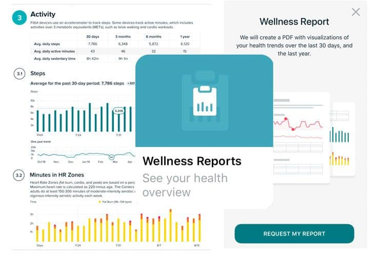 Fitbit premium wellness report