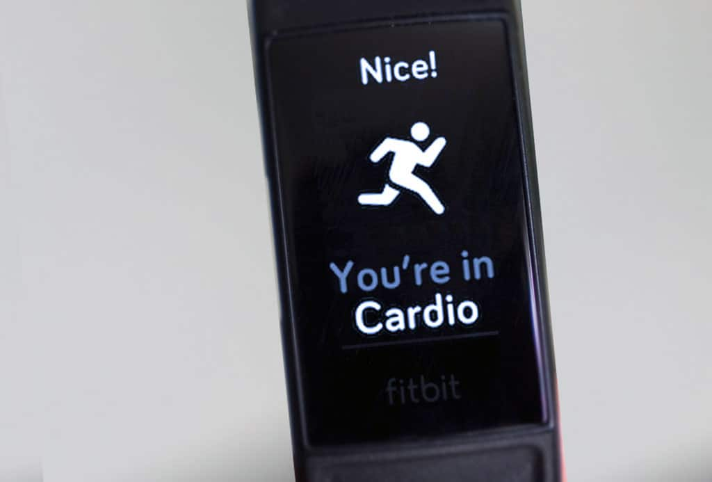 active zone minutes on Fitbit for Cardio