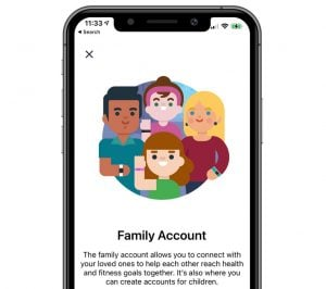 family account Fitbit app