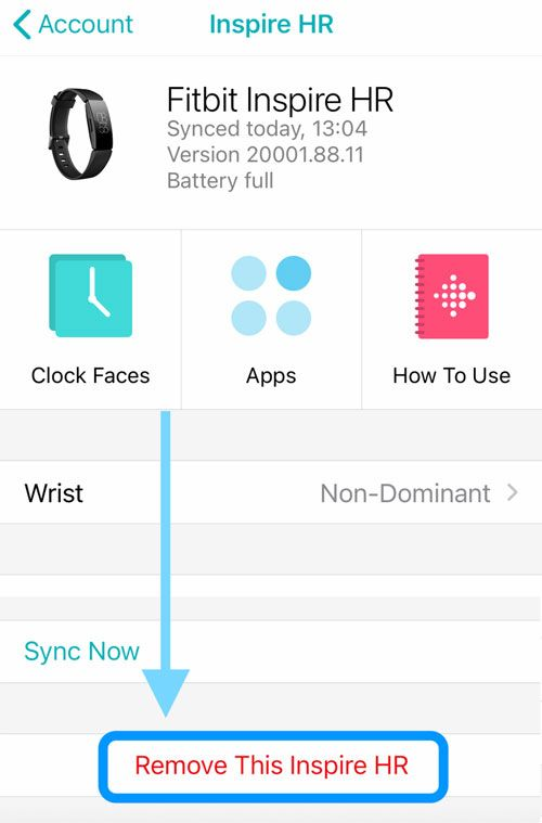 Remove a fitbit from the Fitbit App using an Apple Device