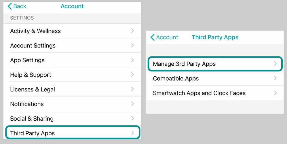 remove access to Fitbit app data for third-party apps including MyFitnessPal