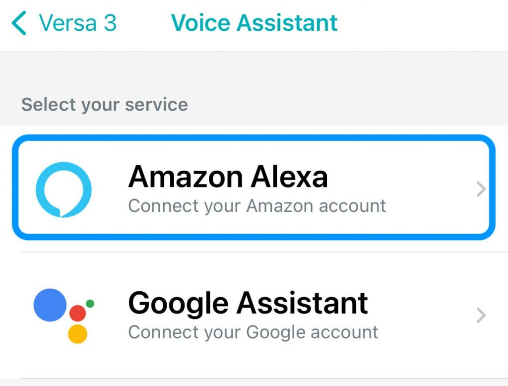 choose your preferred voice assistant in the Fitbit app