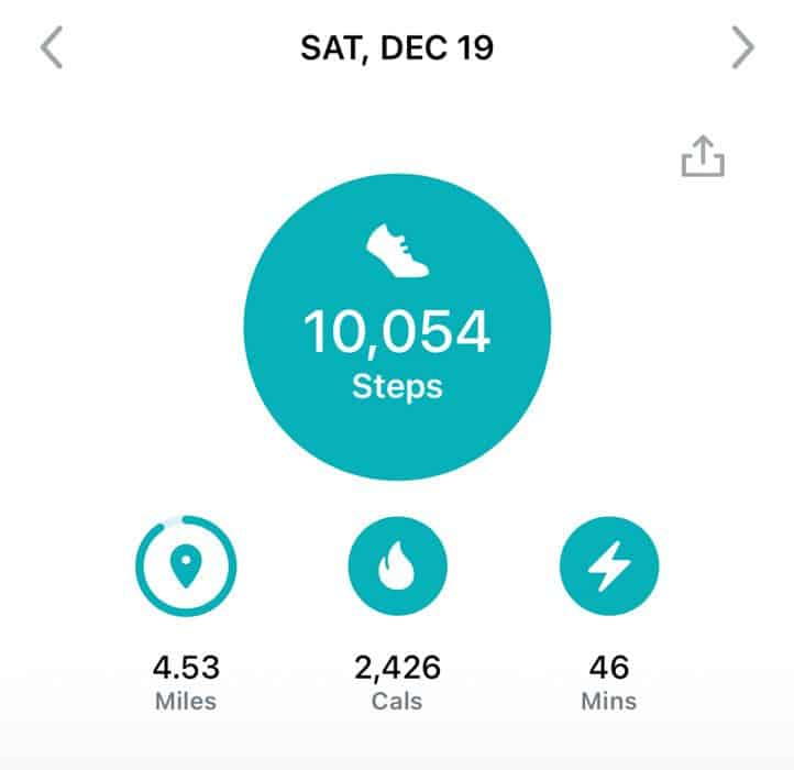 10,000 steps a day on Fitbit