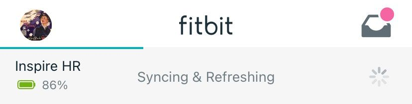 Fitbit Inspire syncing inside Fitbit app