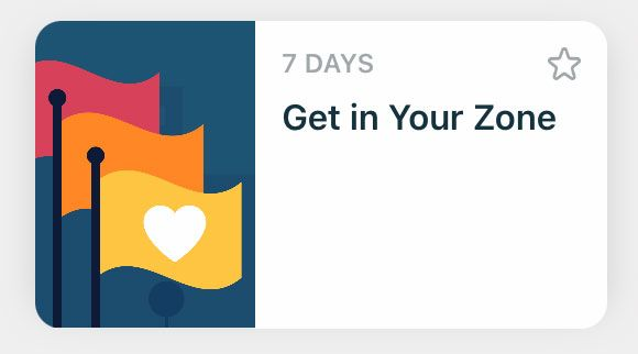 Fitbit solo challenge to Get in Your Zone for active zone minutes