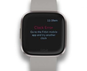 clock error message when trying to change Fitbit clock face