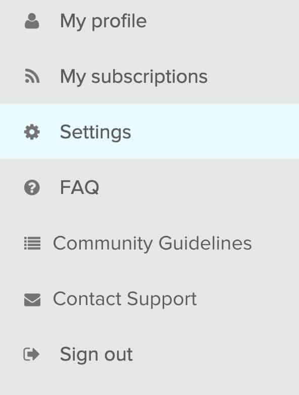 Settings for Fitbit community