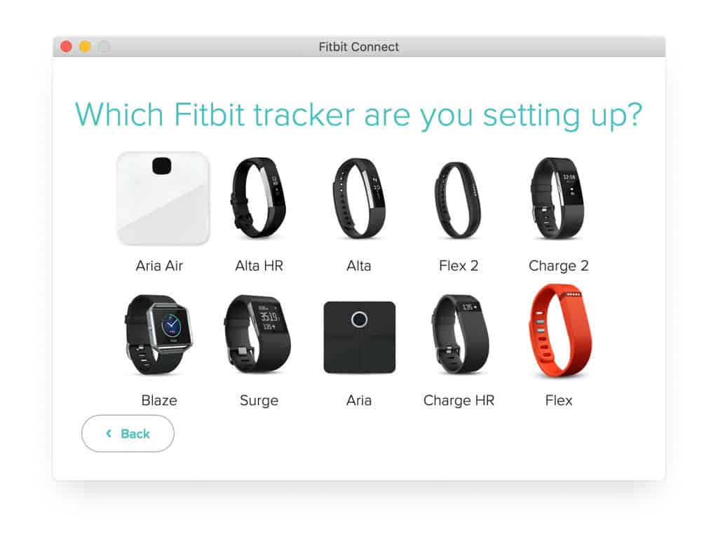 set-up a new or replacement device in fitbit connect app for mac and older windows versions