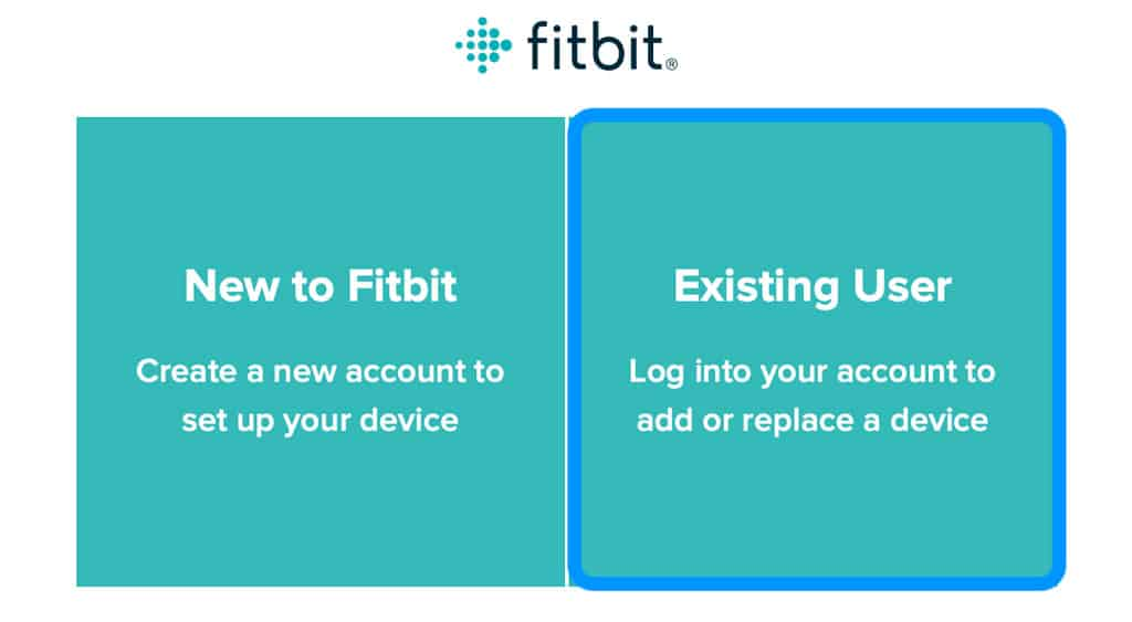 sign into Fitbit connect as an existing user