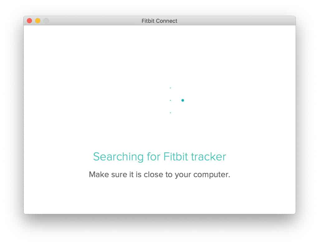 Fitbit connect searching for tracker