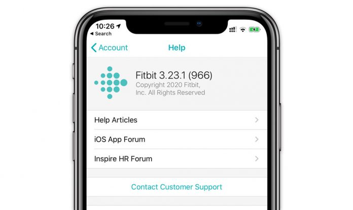 in-app Fitbit customer support
