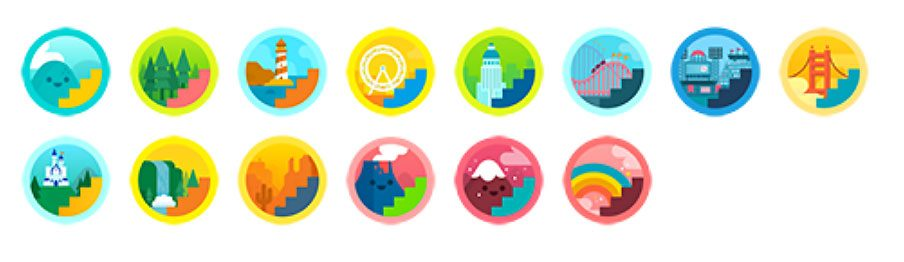 Daily climbing badges for Fitbit