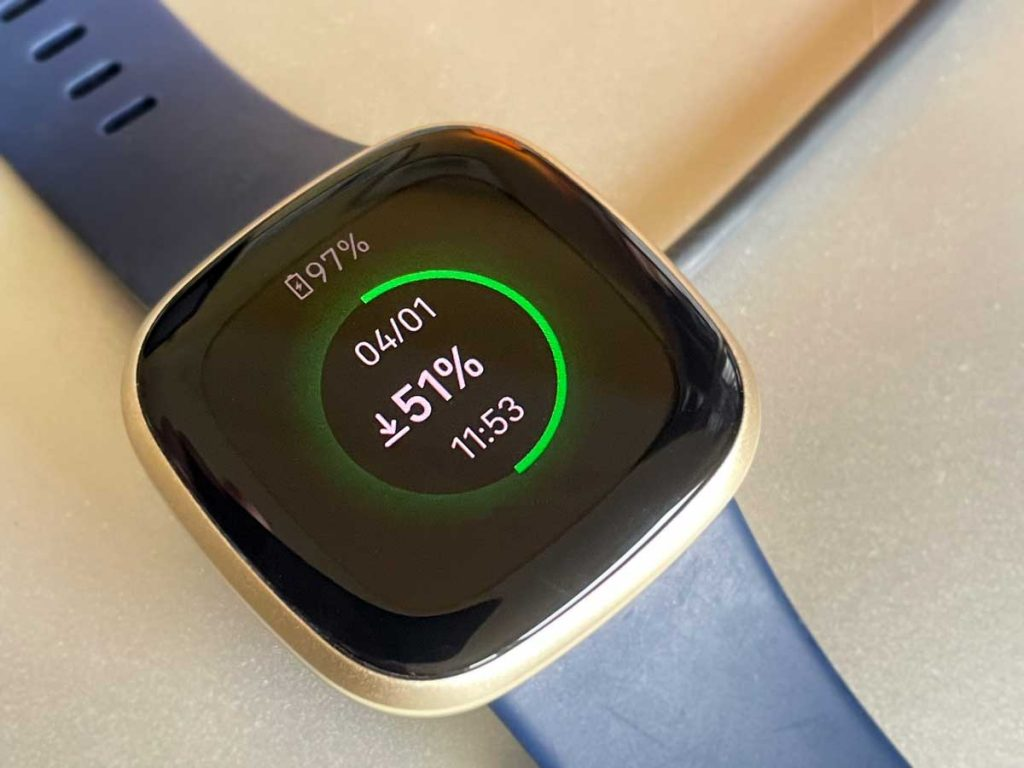 Downloading music and apps to fitbit using WiFi