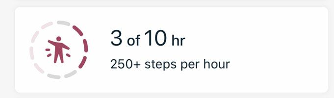 Fitbit app hourly active tile