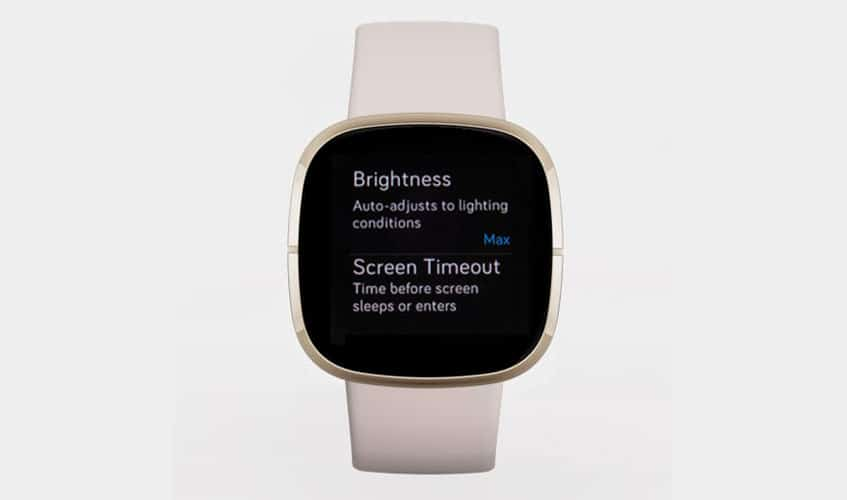 adjust your Fitbit's screen brightness to Max or Normal, not the Auto setting