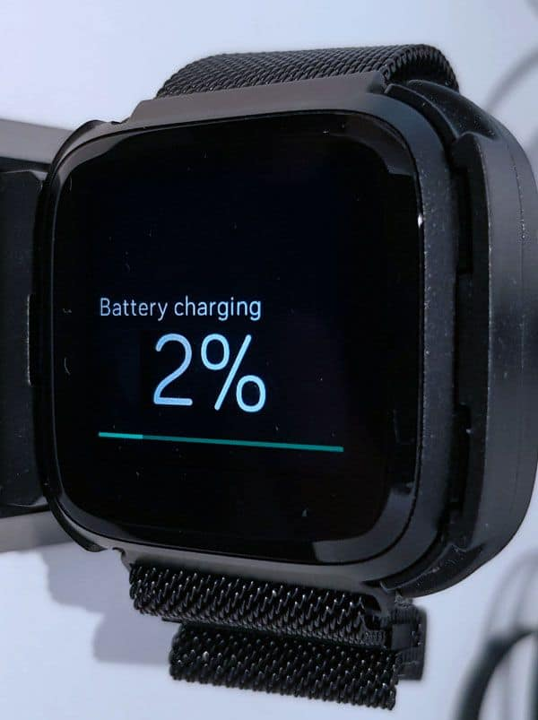 Fitbit very low battery remaining on charger