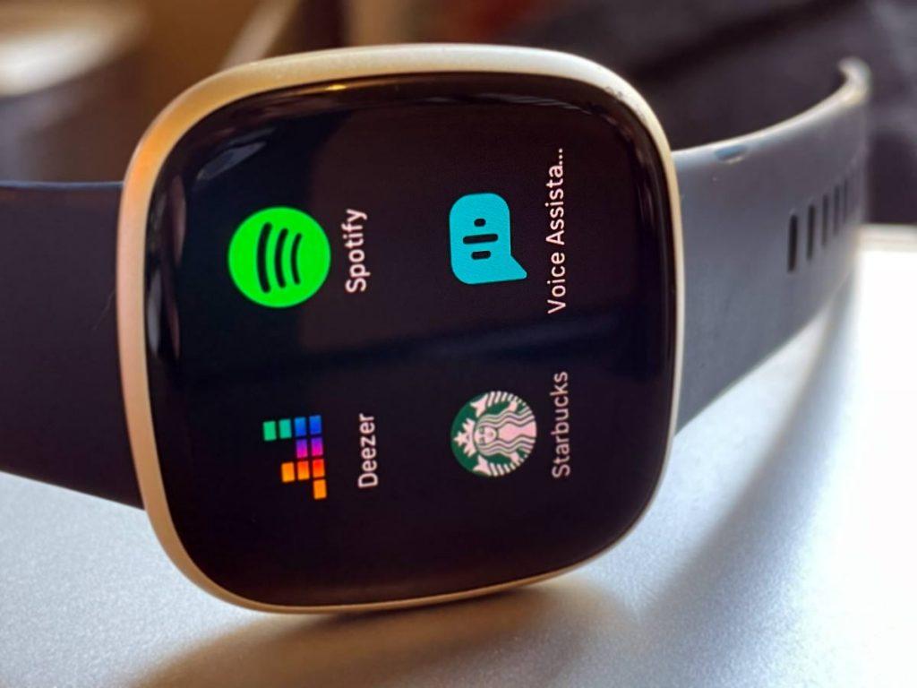 voice assistant app on Fitbit smartwatch