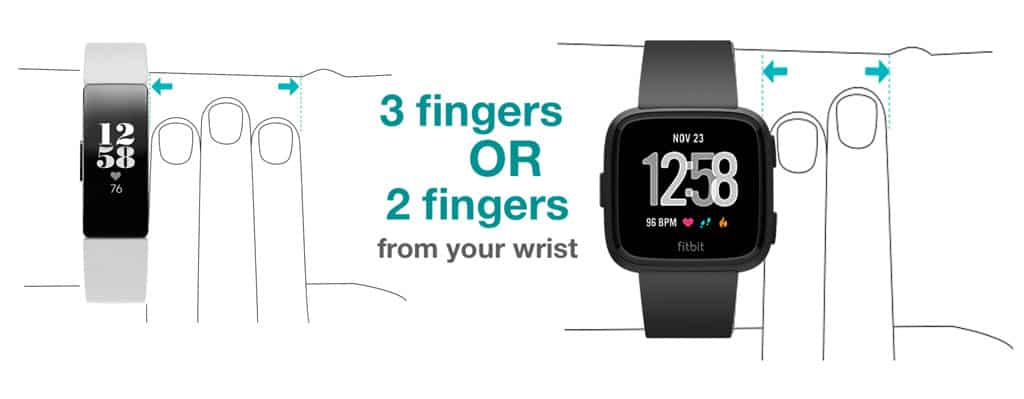 wrist placement for the Fitbit