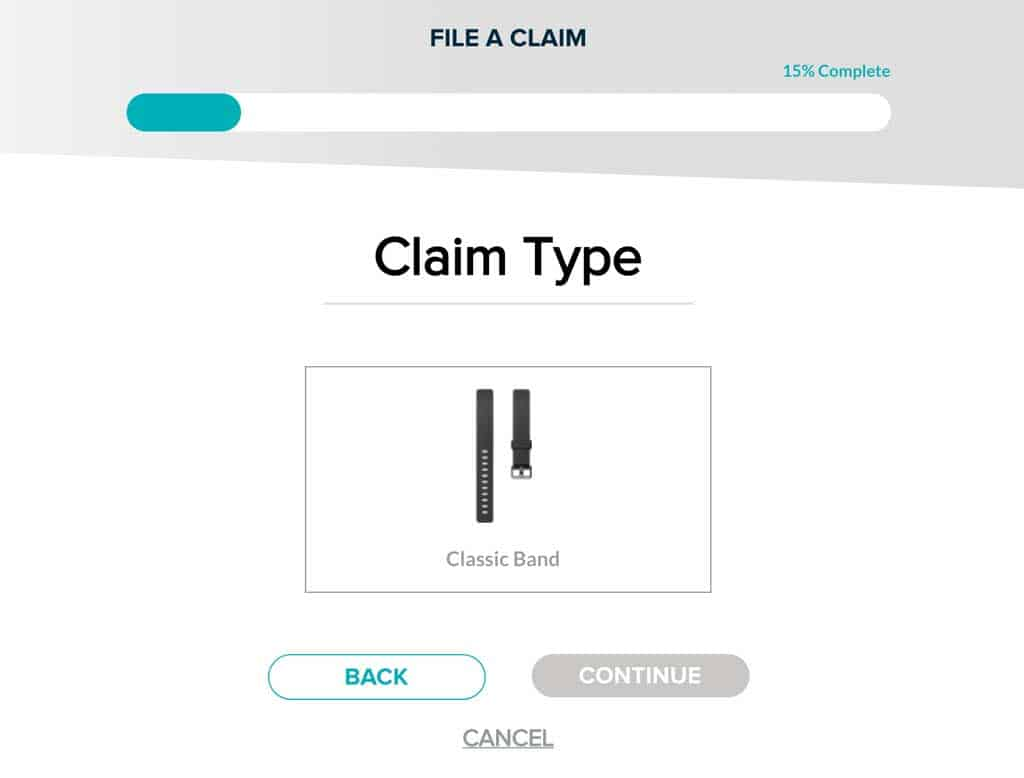 Fitbit band warranty claim