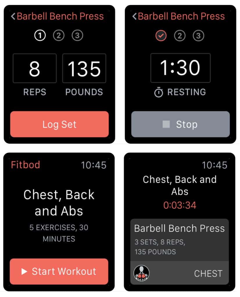 Apple watch Fitted app