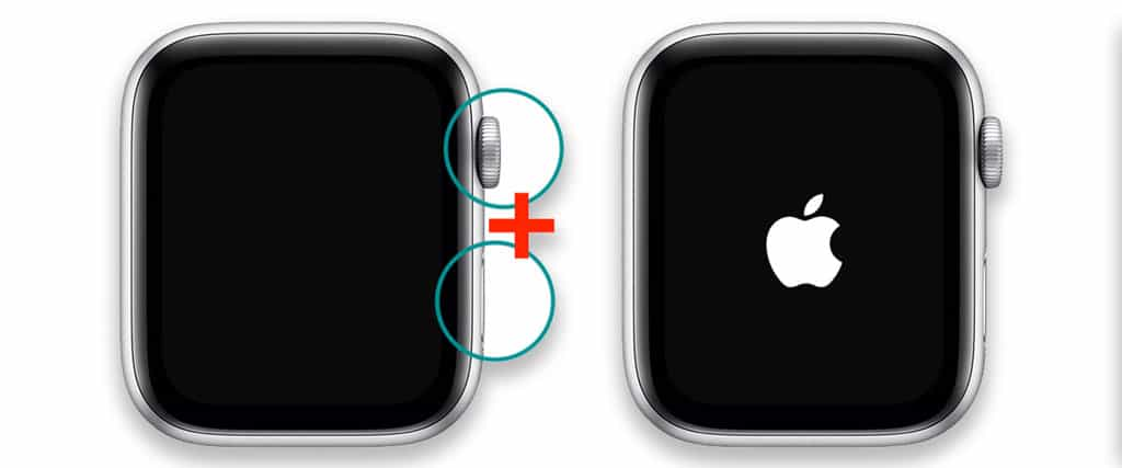 force restart an apple watch