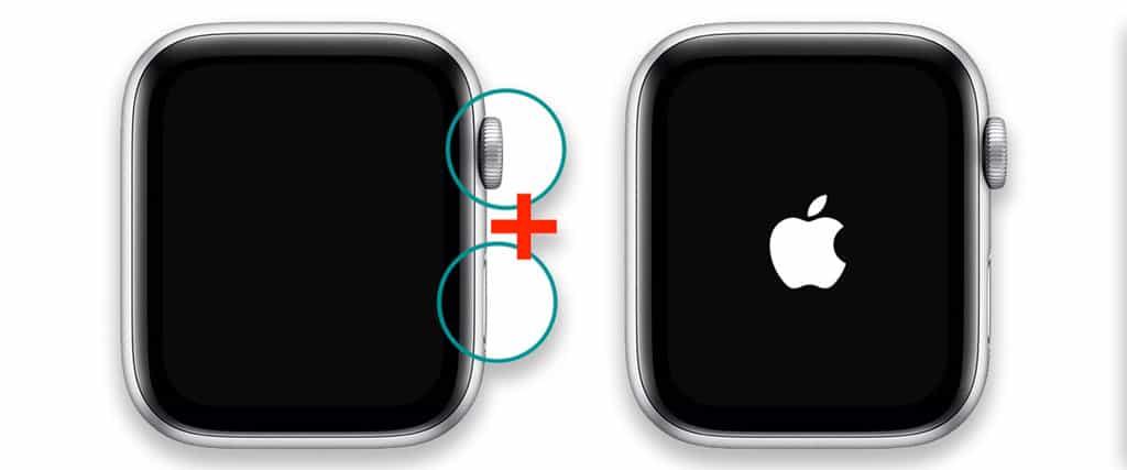 force restart an apple watch