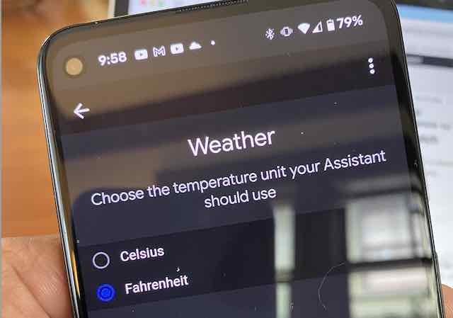 fossil Gen 5 change weather from Celsius to fahrenheit