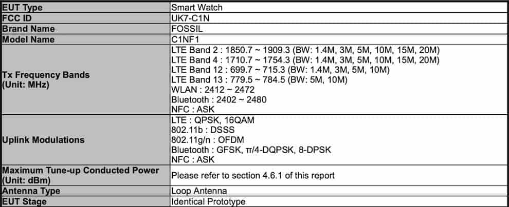Fossil Smartwatch LTE