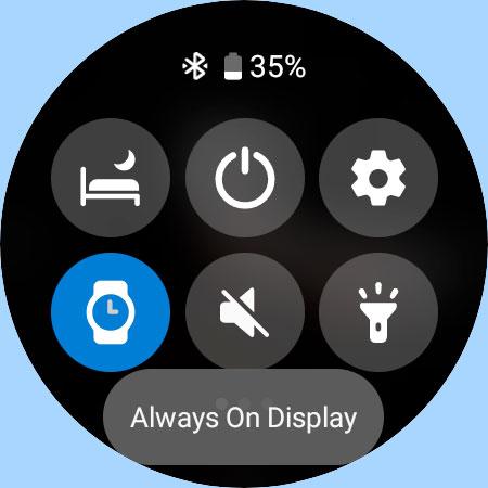 Samsung Galaxy watch 4 AOD setting for always on display