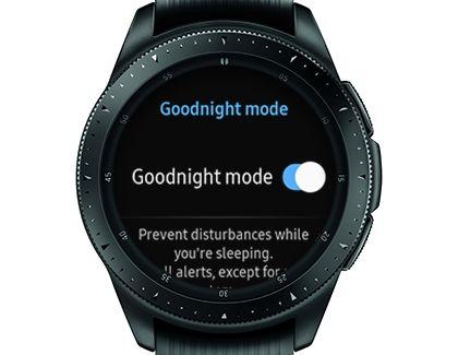 Galaxy watch goodnight mode